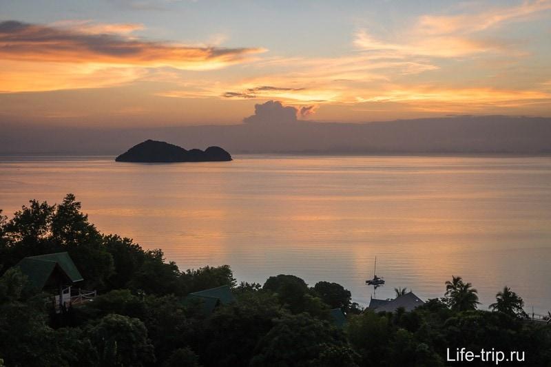 Один из лучших закатов на Пангане