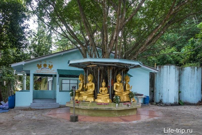 Храм Ват СиРаей (Wat Si Rea) на Пхукете - с большим камнем и видом