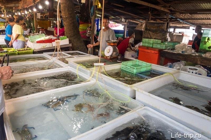 Рыбный рынок на Пхукете, Раваи