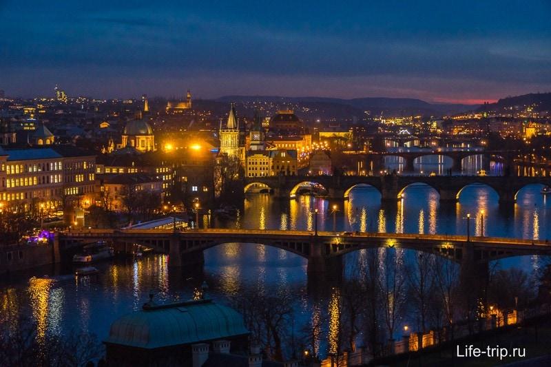 Особенно красива вечерняя Прага