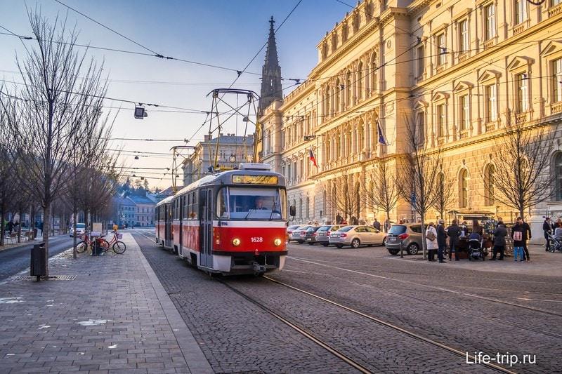 По всей Чехии ездят родные трамваи, Брно не исключение