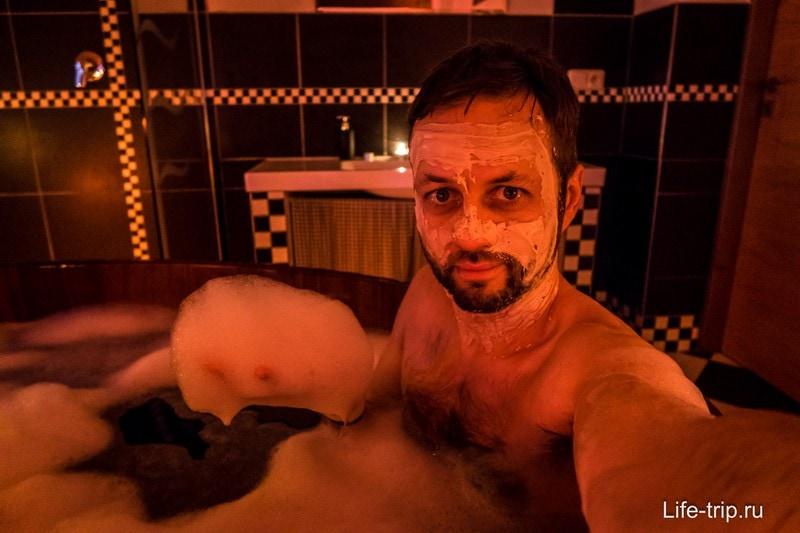 Первый раз в жизни принял пивную ванну