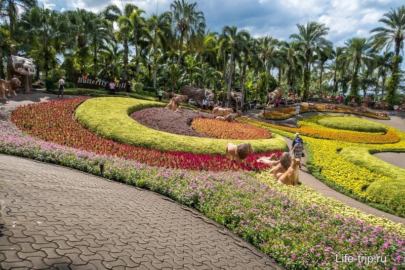Тропический парк Нонг Нуч в Паттайе - самая главная достопримечательность