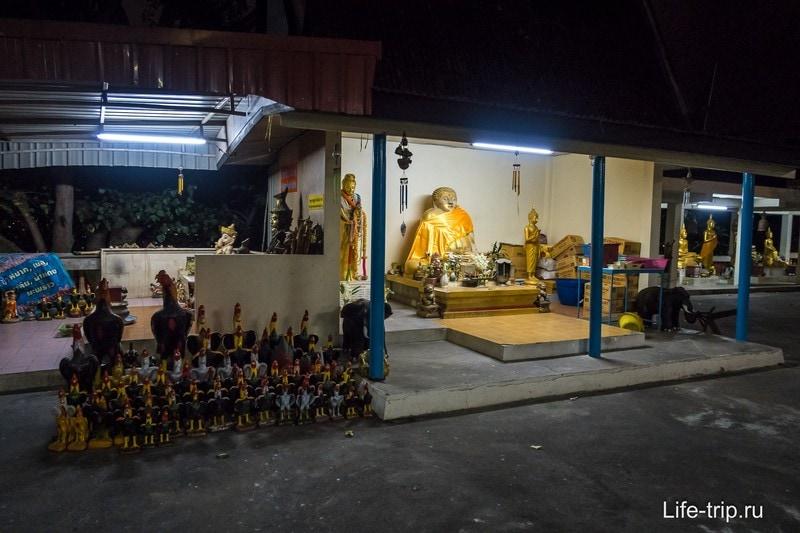 В храме Wat Khao Phra Bat