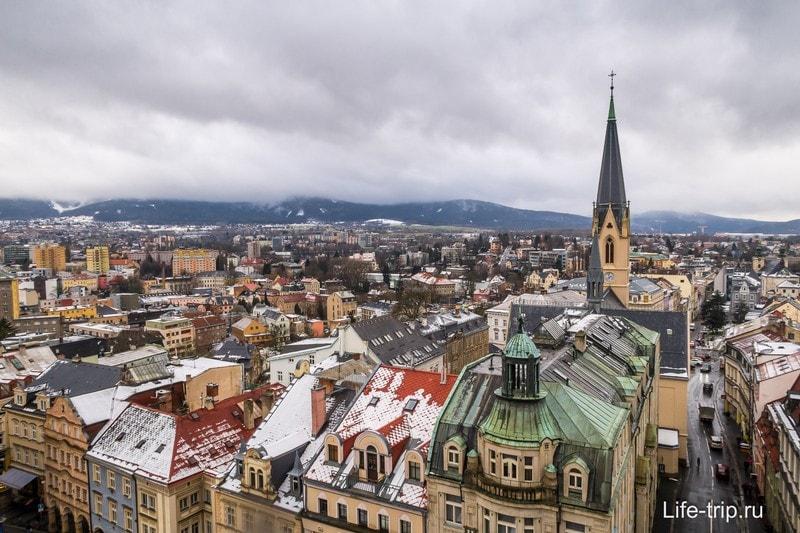 Город Либерец в Чехии