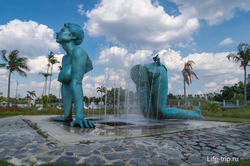 Фонтан в Love Art парк
