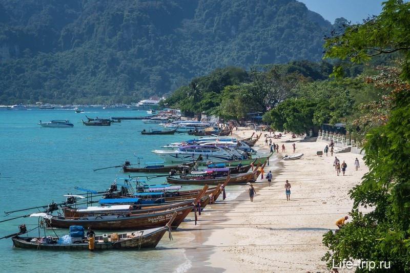 Пляж Тон Сай левая часть