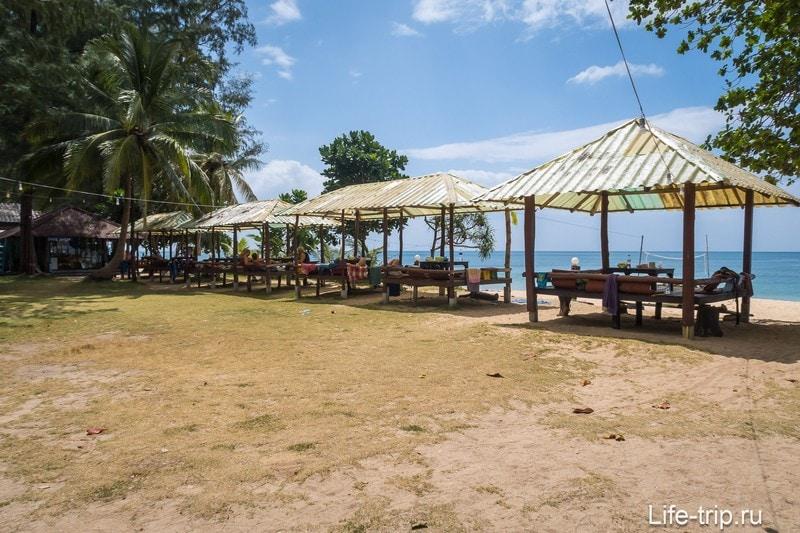 Правая часть пляжа Лонг Бич на Ланте