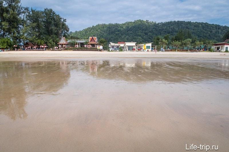 Пляж Клонг Дао на Ланте во время отлива