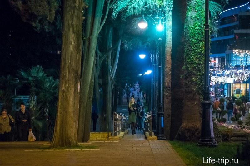 Навагинская улица в Сочи - природный местный Арбат