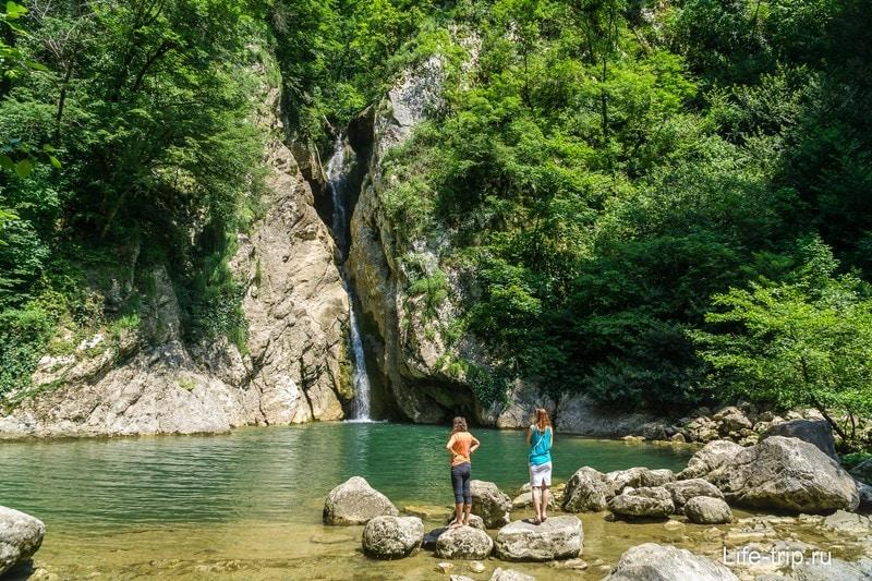 Агурский водопад в Сочи