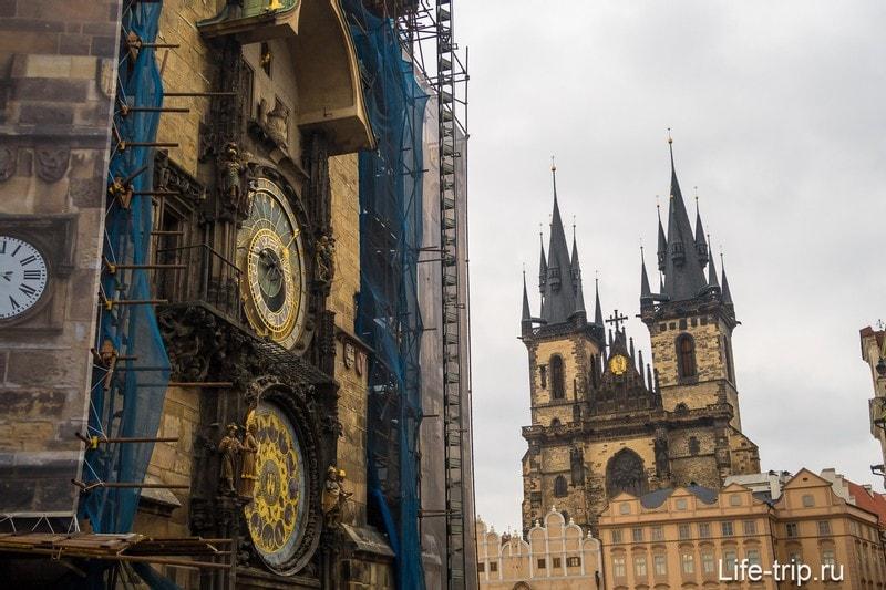 И астрономические часы на Староместской ратуше