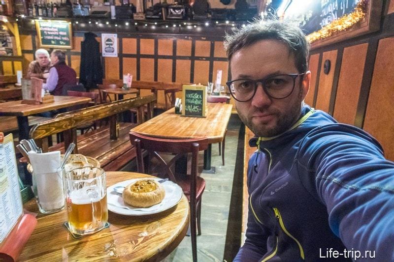 Бар U Sadu - одна из лучших пивных в Праге