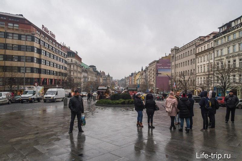 Вацлавская площадь в Праге - исторический бульвар