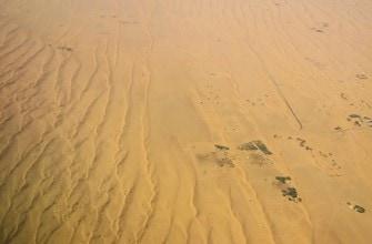 С самолета очень хорошо видно, что ОАЭ это пустыня