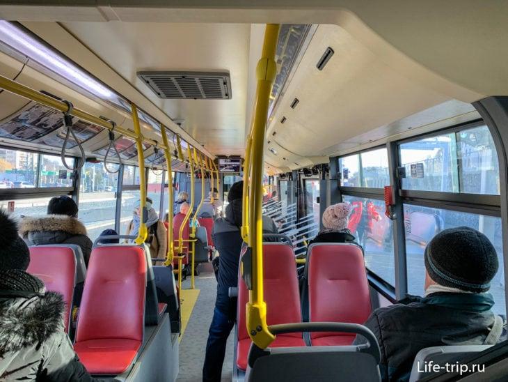Внутри автобуса 119