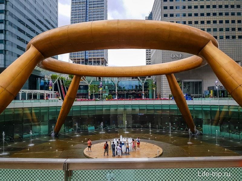 Фонтан Богатства в Сингапуре - увидеть и разбогатеть