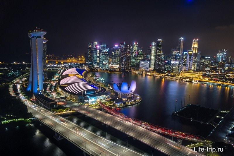 Колесо обозрения в Сингапуре - 30 минут над городом