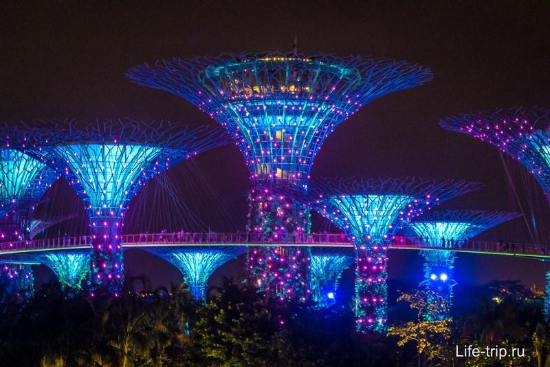 Шоу деревьев Аватар в Сингапуре