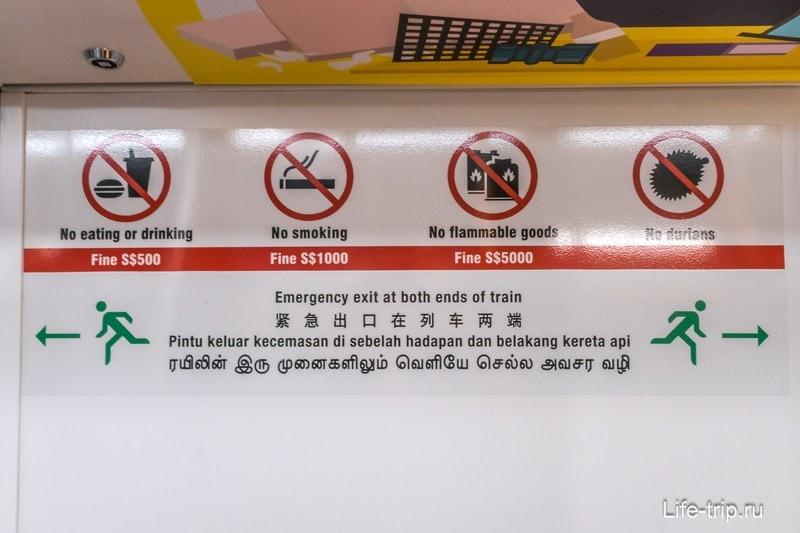 Штрафы в метро