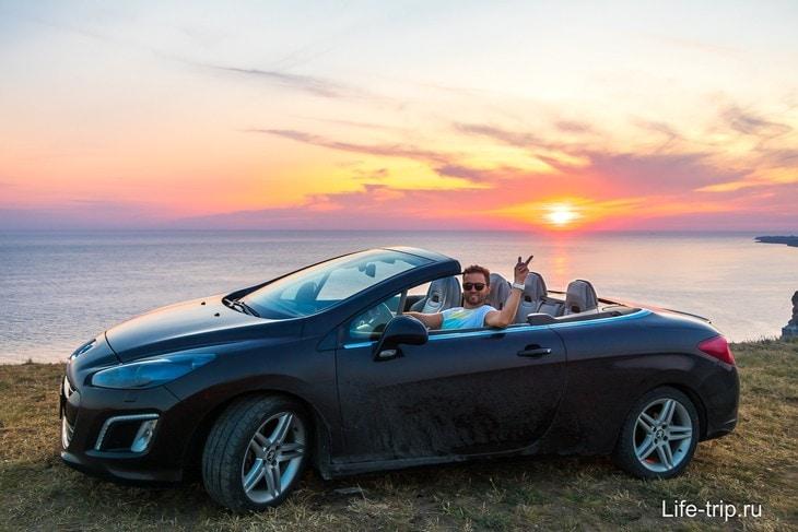 Аренда авто в Крыму, мыс Фиолент