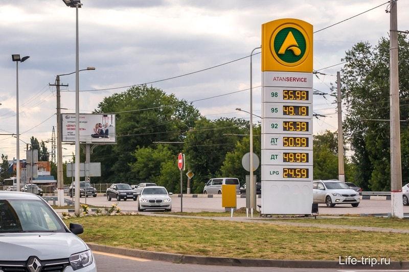 Стоимость бензина в Крыму в июле 2019
