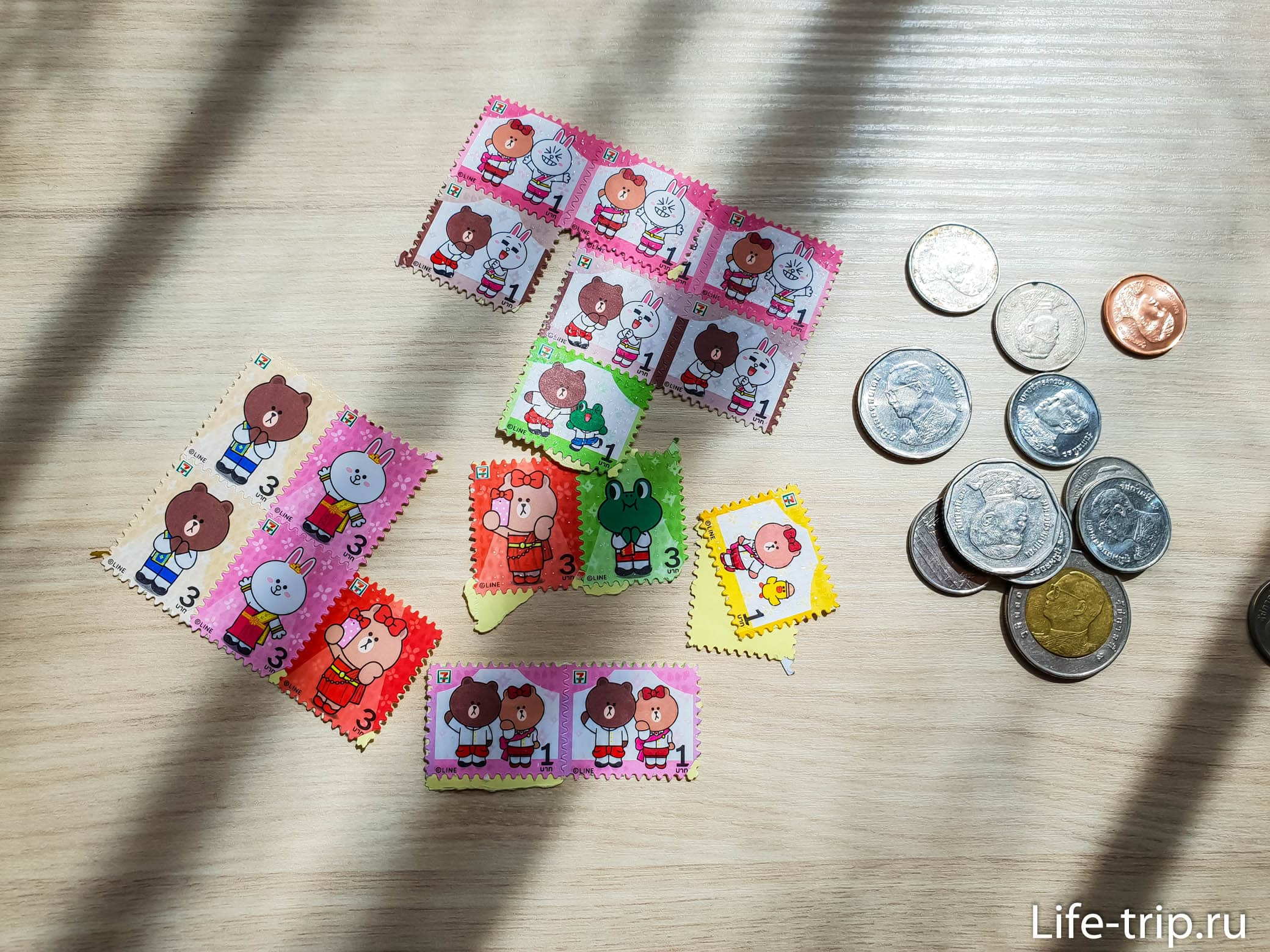 Наклейки из 7-Eleven в Таиланде