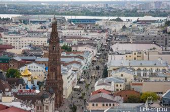 Смотровая площадка на крыше отеля Гранд Казань