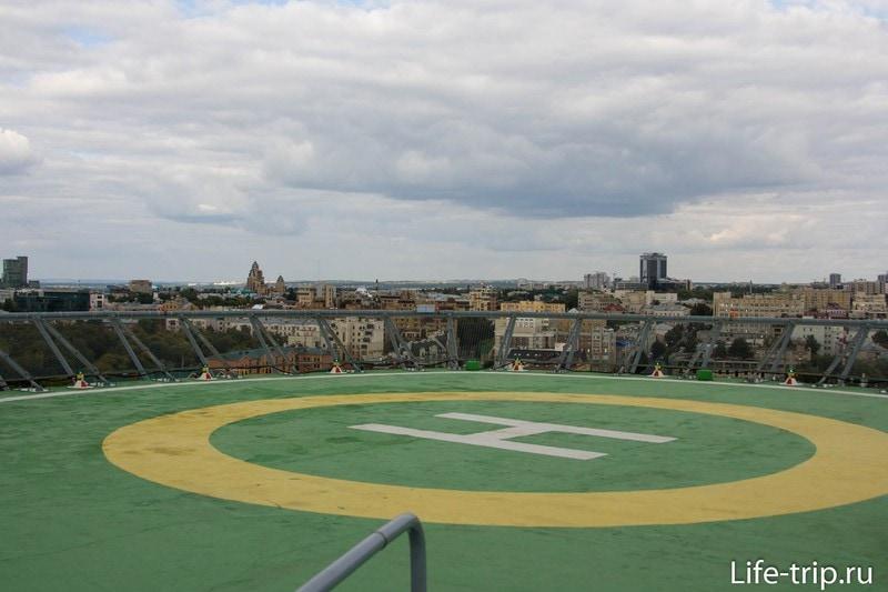 Вертолетная площадка отеля Grand Kazan