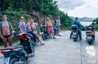 Колонна в тупике дороге на Пангане
