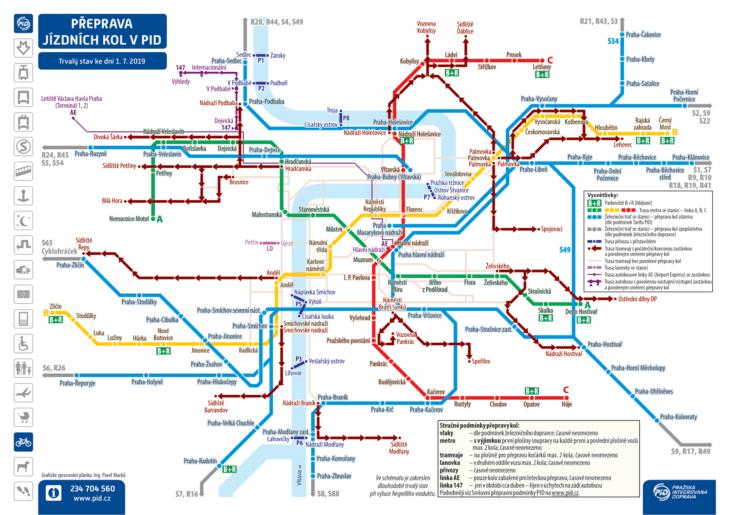 Схема маршрутов, где можно ехать с велосипедом
