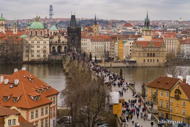 Карлов мост в Праге и Староместская башня