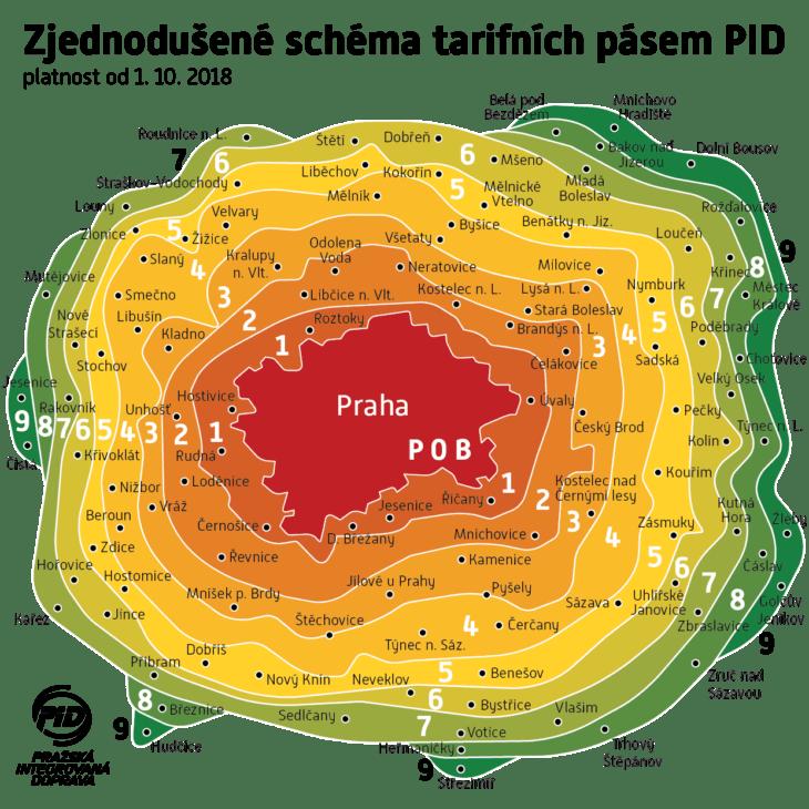 Тарифные зоны Праги