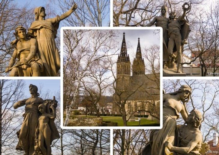Вышеградские Сады в Праге