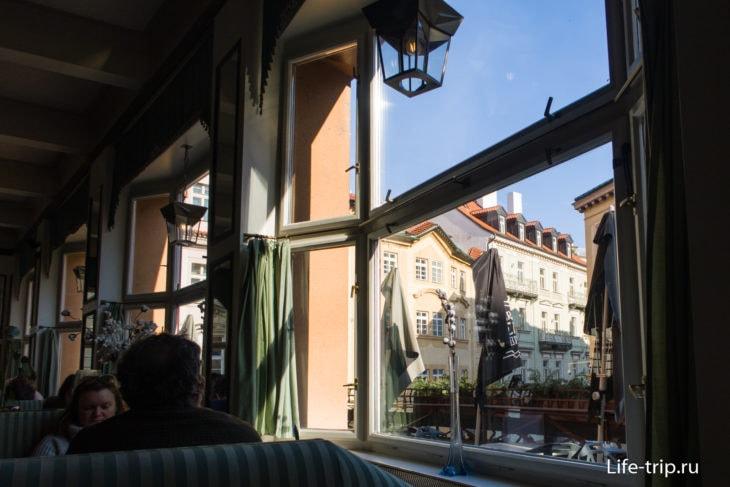 Вид из окна кафе
