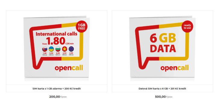 Два вида сим-карт в онлайн-магазине OpenCall