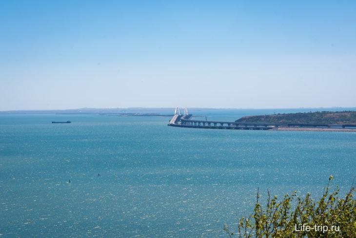 Крымский мост, вид с горы Митридат