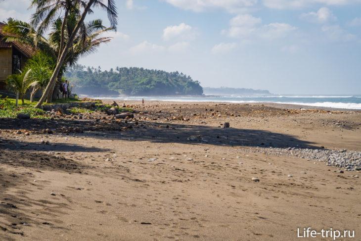 Балиан Бич (Balian Beach) - черный песок на западе Бали