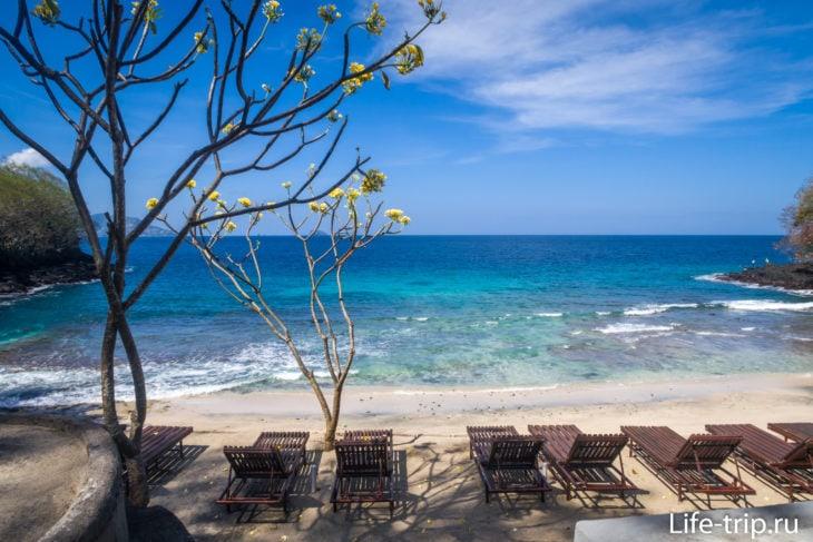 Blue Lagoon Beach - самый короткий пляж на Бали