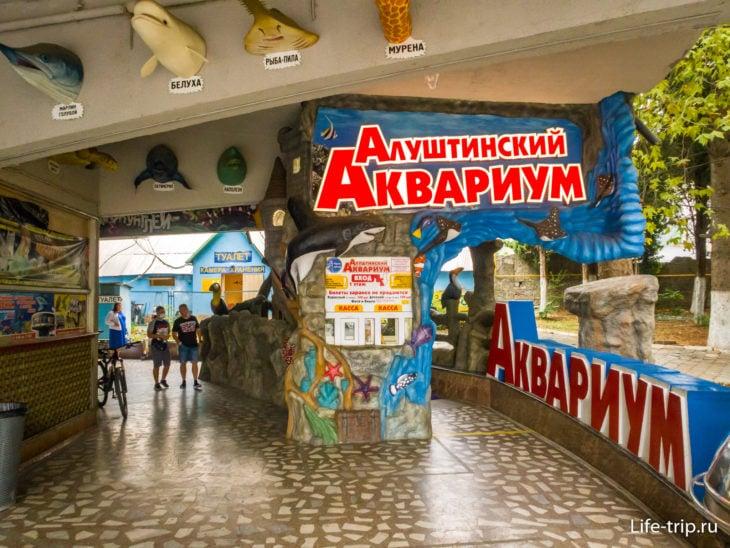 Алуштинский Аквариум в Крыму