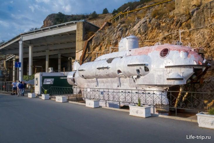 База подводных лодок в Балаклаве, центральный вход