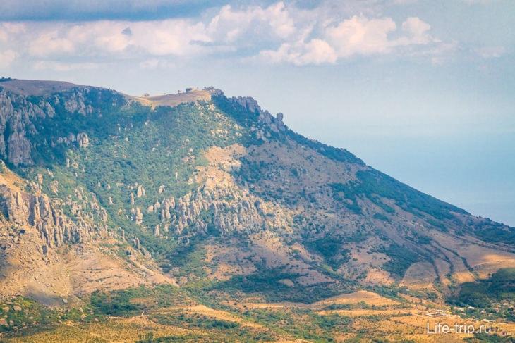 Долина привидений в Крыму издалека