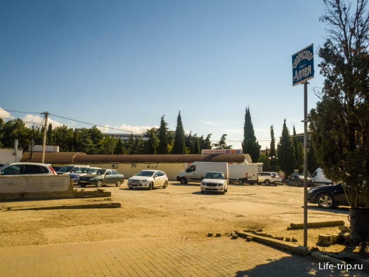Парковка напротив администрации города