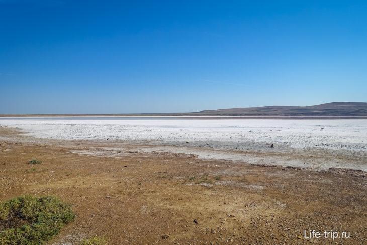 Розовое Кояшское озеро в Крыму - где находится, фото