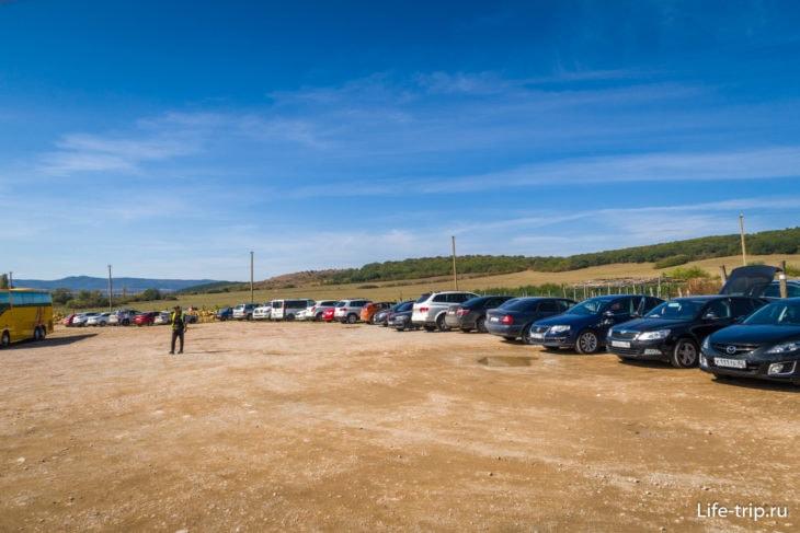 Общая парковка на несколько достопримечательностей