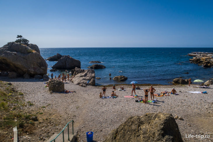Бухта Ласпи в Крыму - пляж и смотровые площадки