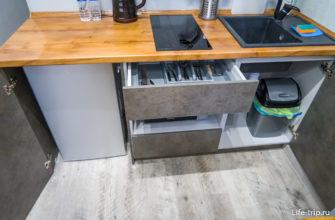 Кухня полностью оборудована для готовки