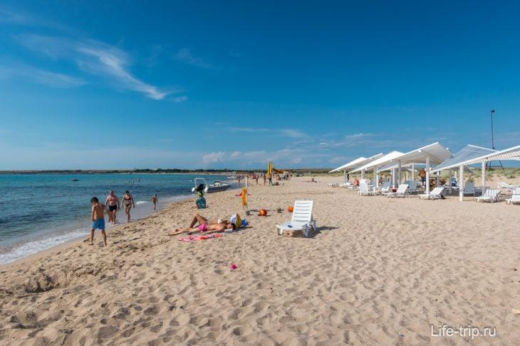 Пляж Майями в Оленевке, Крым