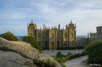 Воронцовский дворец, вид со скалы Потемкина