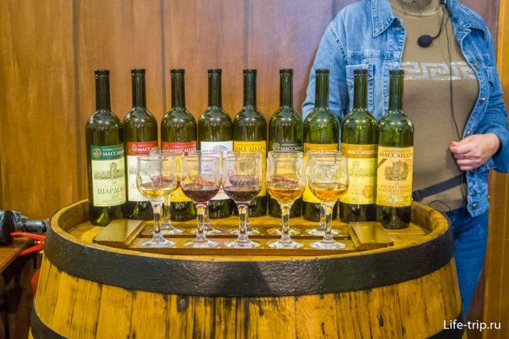 Набор марочных вин для дегустации